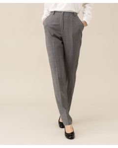 Pantalon lainage aspect flanelle bi-extensible, 2 statures
