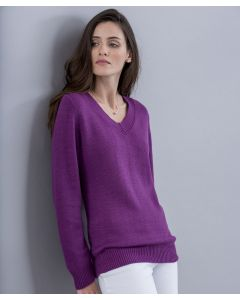 "Pull col ""V"" maille jersey"
