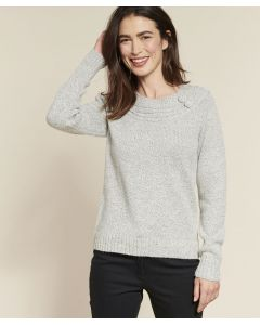 Pull maille chinée