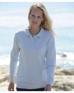 Pull col polo maille jersey souple