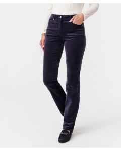 Pantalon velours coupe droite, Perfect Fit by Damart.