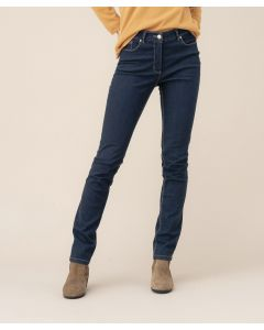Pantalon denim coupe slim, Perfect Fit by Damart.