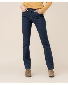 Pantalon denim coupe droite, Perfect Fit by Damart.
