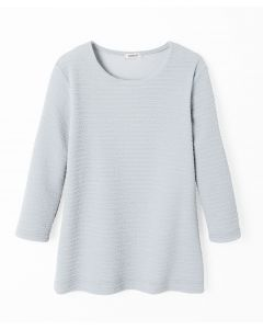 Tee-shirt manches 3/4 maille jacquard