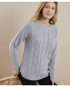 Pull maille chinée torsadé Thermolactyl