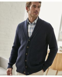 Strickjacke in Patentmuster