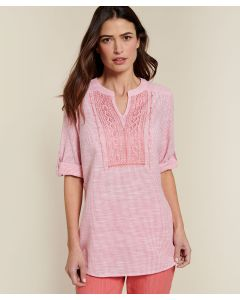 Blouse pur coton fines rayures