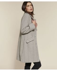 Manteau chevrons en lainage
