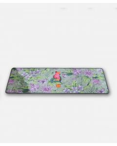 Tapis jungle et perroquet
