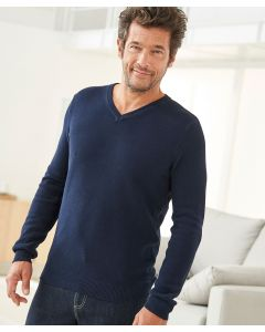 Pullover in Musterstrick.