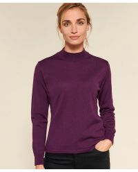 Pull col montant pur laine